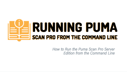 Open book explaining the step as to how Server License users can run PUma Scan Pro from the Command Line