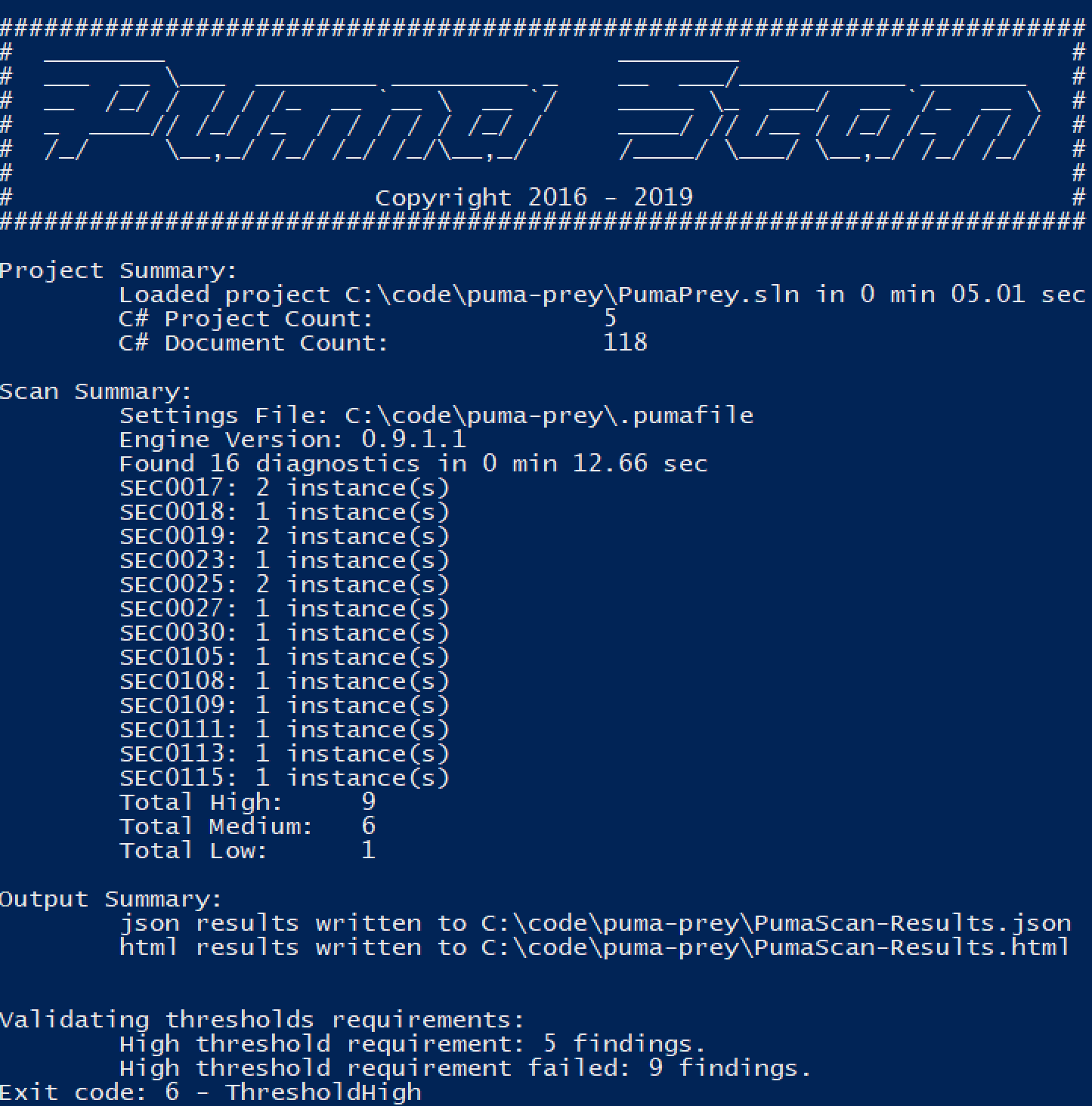 Puma Scan | User Guide