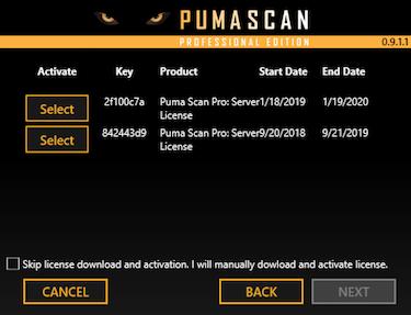 Puma Scan   Installation Instructions